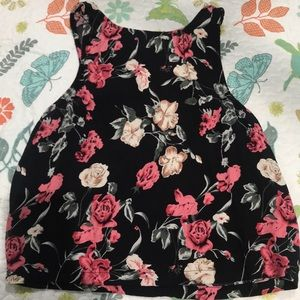 Forever 21 Flower Crop Top